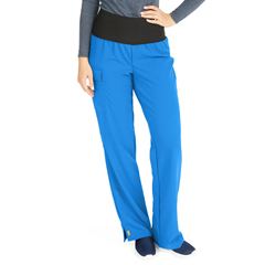 MED5560RYLXLT - Medline - Ocean Ave Womens Stretch Fabric Support Waistband Scrub Pants, Blue, XL