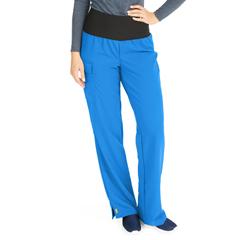 MED5560RYLXXLP - Medline - Ocean Ave Womens Stretch Fabric Support Waistband Scrub Pants, Blue, 2XL
