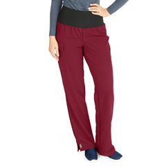 MED5560WNEXSP - Medline - Ocean Ave Womens Stretch Fabric Support Waistband Scrub Pants, Red, XS