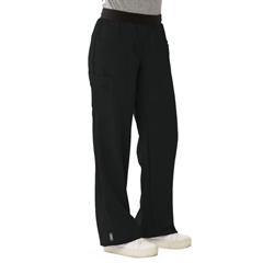 MED5570BLKMP - Medline - Pacific Ave Womens Stretch Fabric Wide Waistband Scrub Pants, Black, Medium