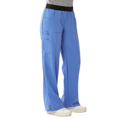 MED5570CBLL - Medline - Pacific Ave Womens Stretch Fabric Wide Waistband Scrub Pants, Blue, Large