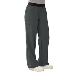 MED5570CHRXLP - Medline - Pacific Ave Womens Stretch Fabric Wide Waistband Scrub Pants, Black, XL