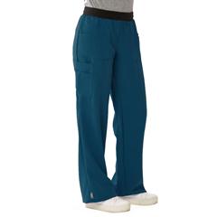 MED5570CRBXXS - Medline - Pacific Ave Womens Stretch Fabric Wide Waistband Scrub Pants, Blue, XXS