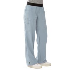 MED5570GRYM - Medline - Pacific Ave Womens Stretch Fabric Wide Waistband Scrub Pants, Black, Medium