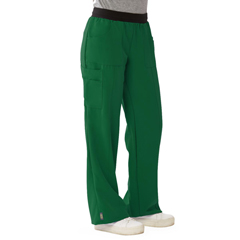 MED5570HTRXXSP - Medline - Pacific Ave Womens Stretch Fabric Wide Waistband Scrub Pants, Green, XXS