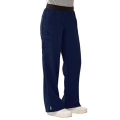 MED5570NVYXLT - Medline - Pacific Ave Womens Stretch Fabric Wide Waistband Scrub Pants, Blue, XL