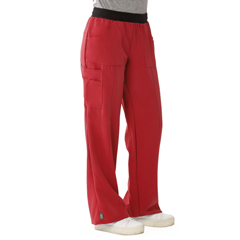 MED5570REDXLP - Medline - Pacific Ave Womens Stretch Fabric Wide Waistband Scrub Pants, Red, X-Large