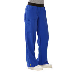 MED5570RYLXS - Medline - Pacific Ave Womens Stretch Fabric Wide Waistband Scrub Pants, Blue, XS