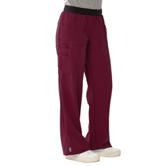 MED5570WNEL - Medline - Pacific Ave Womens Stretch Fabric Wide Waistband Scrub Pants, Red, Large