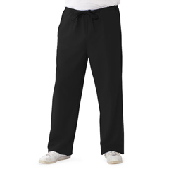MED5900BLK5XLP - Medline - Newport Ave Unisex Stretch Fabric Scrub Pants with Drawstring, Black, XL