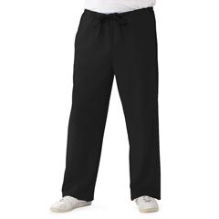 MED5900BLKLP - Medline - Newport Ave Unisex Stretch Fabric Scrub Pants with Drawstring, Black, Large