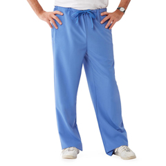 MED5900CBLMT - Medline - Newport Ave Unisex Stretch Fabric Scrub Pants with Drawstring, Blue, Medium