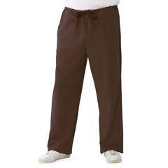 MED5900CHCXL - Medline - Newport Ave Unisex Stretch Fabric Scrub Pants with Drawstring, Brown, XL