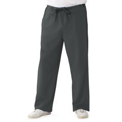 MED5900CHRM - Medline - Newport Ave Unisex Stretch Fabric Scrub Pants with Drawstring, Black, Medium