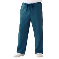 MED5900CRB5XLP - Medline - Newport Ave Unisex Stretch Fabric Scrub Pants with Drawstring, Blue, 5XL