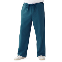 MED5900CRBSP - Medline - Newport Ave Unisex Stretch Fabric Scrub Pants with Drawstring, Blue, Small