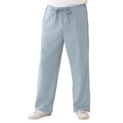 MED5900GRYXST - Medline - Newport Ave Unisex Stretch Fabric Scrub Pants with Drawstring, Black, XS