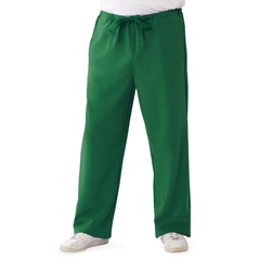 MED5900HTRXST - Medline - Newport Ave Unisex Stretch Fabric Scrub Pants with Drawstring, Green, XS