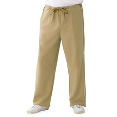 MED5900KHKM - Medline - Newport Ave Unisex Stretch Fabric Scrub Pants with Drawstring, Brown, Medium