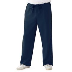 MED5900NVYM - Medline - Newport Ave Unisex Stretch Fabric Scrub Pants with Drawstring, Blue, Medium