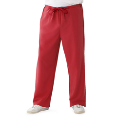 MED5900REDST - Medline - Newport Ave Unisex Stretch Fabric Scrub Pants with Drawstring, Red, Small