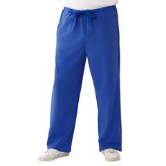 MED5900RYLLP - Medline - Newport Ave Unisex Stretch Fabric Scrub Pants with Drawstring, Blue, Large
