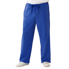 MED5900RYLXXS - Medline - Newport Ave Unisex Stretch Fabric Scrub Pants with Drawstring, Blue, XXS