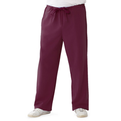 MED5900WNEXXLP - Medline - Newport Ave Unisex Stretch Fabric Scrub Pants with Drawstring, Red, 2XL