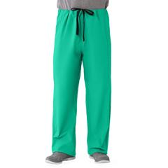 MED649MJSS - Medline - Unisex 100% Cotton Reversible Drawstring Scrub Pants, Green, Small