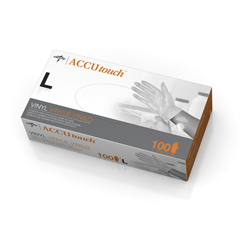 MED6MDS192076 - MedlineAccutouch Synthetic Exam Gloves - CA Only, Clear, Large