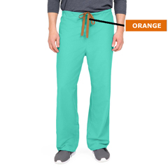 MED800NTJS-CA - Medline - PerforMAX Unisex Reversible Scrub Pants with Front Drawstring, Green, Small