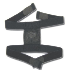 MEDAGIAC302328B - MedlineHeadgear, Simple Strap, Reusable, Black