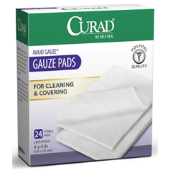 MEDCUR26444 - Medline - CURAD Sterile Pro-Gauze Pad, 4 x 4, 4 Ply, 24/Box, 24 BX/CS