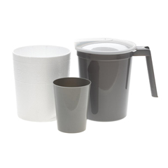 MEDDYK100CMT - Medline - Water Pitcher and Tumbler Set with Foam Outer Jacket, Graphite, 32 oz., 40 EA/CS