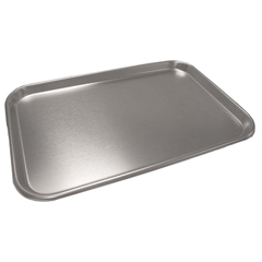 MEDDYND0519FZ - Medline - Stainless Steel Instrument Trays with Rolled Edges