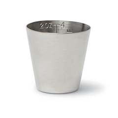 MEDDYND052A - MedlineMed Cup 2-Oz, Graduated Stainless Steel