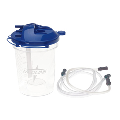 MEDDYND44703H - Medline - Rigid Disposable Suction Canisters with Tubing, 1, 500.0 ML