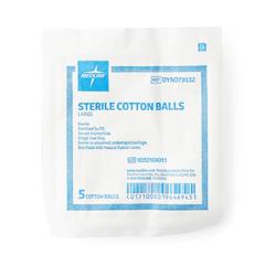 MEDDYND73032 - MedlineCotton Ball, Large, Sterile, 5 Pk