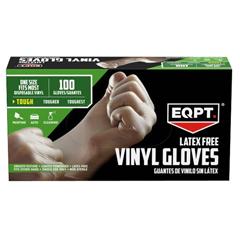 MEDEQPT4135 - Medline - EQPT® Latex-Free Powdered Vinyl Gloves, L/XL, 1000/CS
