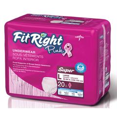 MEDFITPINKLGZ - MedlineFitRight Pink Protective Underwear