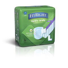 MEDFITRESTORELG - MedlineFitRight Restore Briefs, Large, 80EA/CS