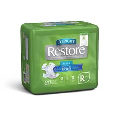 MEDFITRESTORERG - MedlineFitRight Restore Briefs, Regular, 80EA/CS