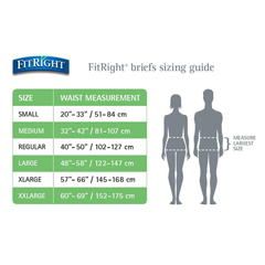 MEDFITBASICMDZ - MedlineFitRight Basic Incontinence Briefs, 32-42, 25 EA/BG