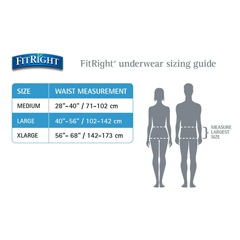 MEDFIT33005A - MedlineFitRight Super Protective Underwear, Medium, 80 EA/CS