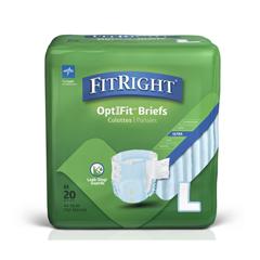 MEDFITULTRALG - MedlineFitRight Ultra Briefs, Large, 80EA/CS