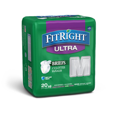 MEDFITULTRAMD - MedlineFitRight Ultra Incontinence Briefs, 32-42, 80 EA/CS