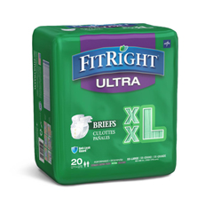 MEDFITULTRAXXL - MedlineFitRight Ultra Incontinence Briefs, 60-69, 80 EA/CS