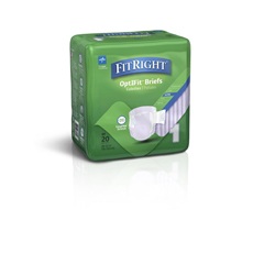 MEDFRSU1 - Medline - FitRight Stretch Ultra Incontinence Briefs with Center Tab, 80 EA/CS
