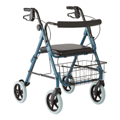 MEDG07887B - GuardianDeluxe Rollators with 8 Wheels, Blue