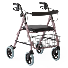 MEDG07887R - GuardianDeluxe Rollators with 8 Wheels, Rose